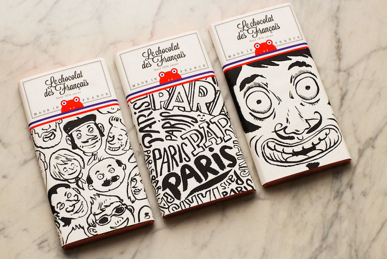 french chocolate package design