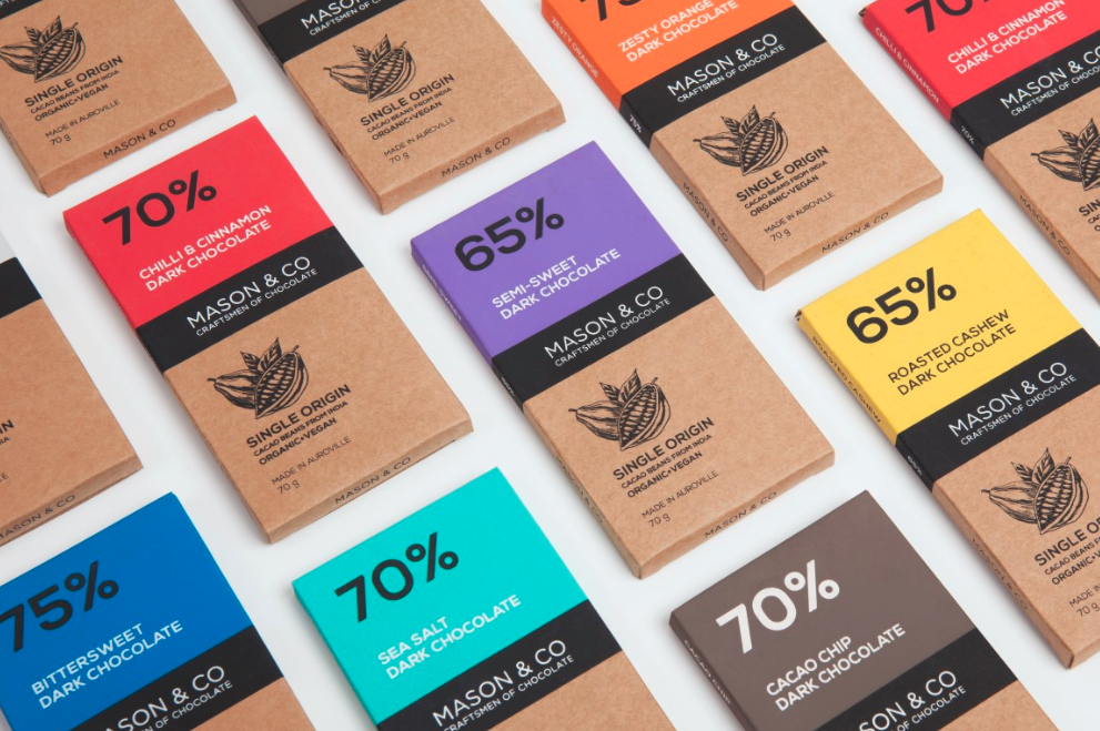 organic chocolate package design