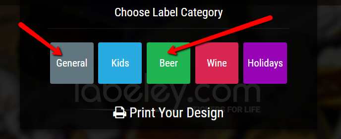 choose label category